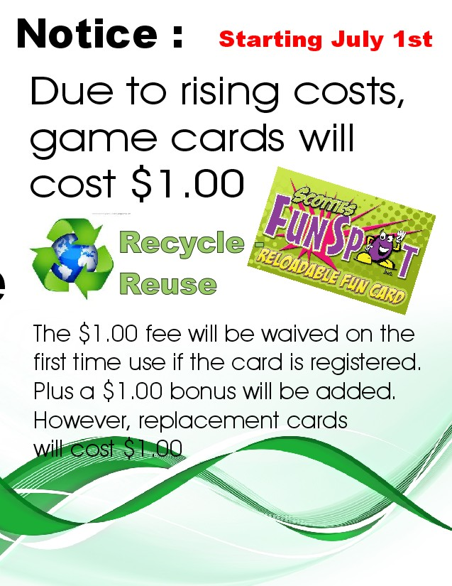 game card cost
