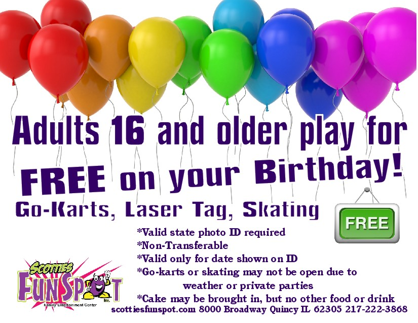 adults play free your birthday
