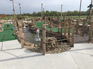Hole 1 at Outback Mini Golf