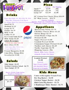 menu back